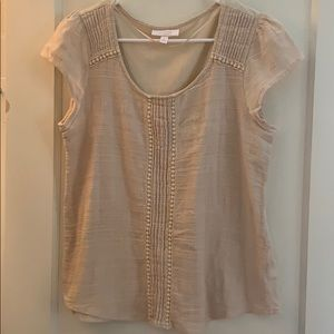 LC LAUREN CONRAD Cream Blouse